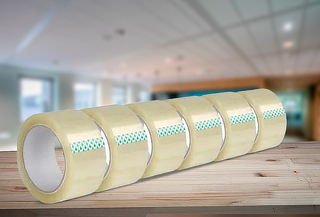 600 Metros de Cinta de Embalaje Transparente