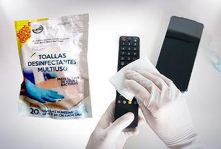 100 Toallas Desinfectantes Multiuso