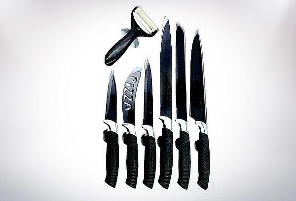 Set de Cuchillos Cerámico Acero Inoxidable 7 Piezas