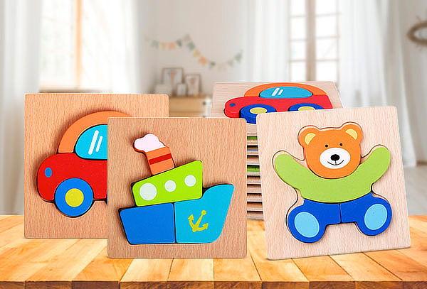 Puzzles Encaje Infantil de Madera