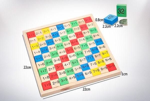 Tabla Multiplicar de Madera