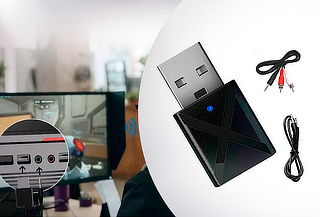 Receptor Transmisor Bluetooth 5.0 USB Radio Auto Camioneta