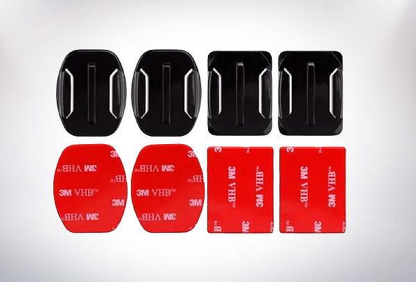 Pack 4 Bases Monturas Adhesiva Curva y Plana para Gopro Hero