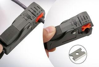 Corta Cables Ajustable Doble Cuchilla Coaxial Multifunción