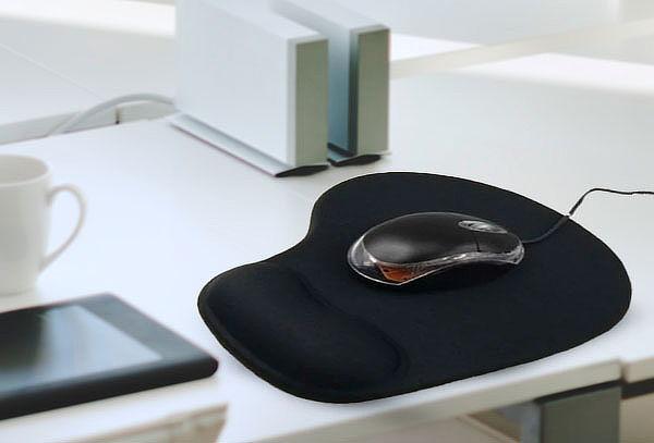 Mouse Pad Ergonómico Con Gel Apoyamuñeca Base Antideslizante