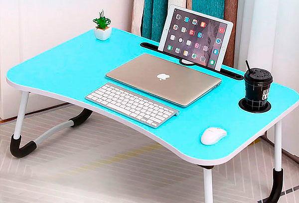 Mesa Plegable Portatil Notebook Cama Desayuno