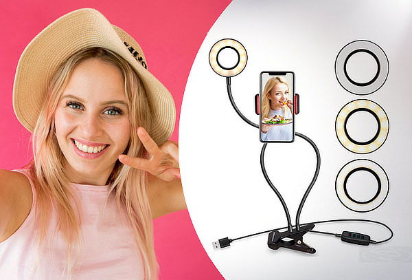 Aro Luz Led 2 En 1 Selfie Tiktok 8cm Universal