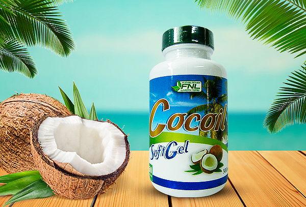 Aceite de Coco Cocoil 60 capsulas Laboratorio FNL