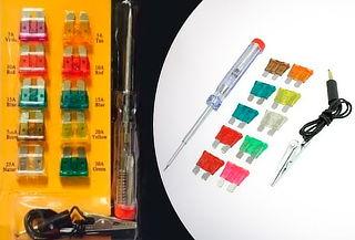 Kit Set de Fusibles con Probador de Corriente