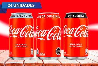 Pack 24 latas de Coca-Cola Regular 350 cc