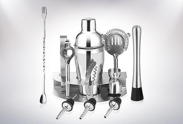Kit Coctelera metálica 12 piezas