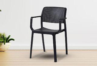 Silla de exterior con brazos - Color Negro