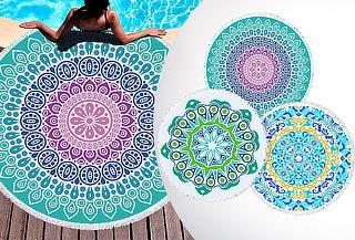 Toalla de playa Mandala 150 cm Diseño a elección