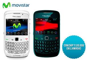 33% Blackberry Curve 8520 + Chip con $10.000 Movistar.