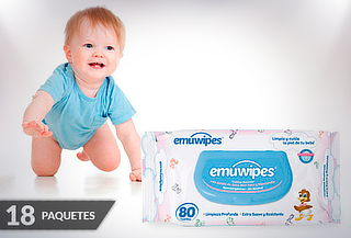 18 Paquetes Emuwipes® Premium 80 Unidades c/u