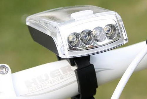 Luz Led para Bicicleta con carga usb y solar
