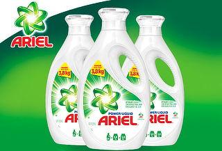 26% Pack de 3 Ariel Power Liquids 1,9 litros.