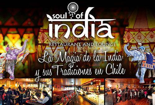50% Cena o Almuerzo para 2 en Soul of India, Vitacura