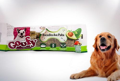 81% 16 bocaditos ave-palta para perro Goofy