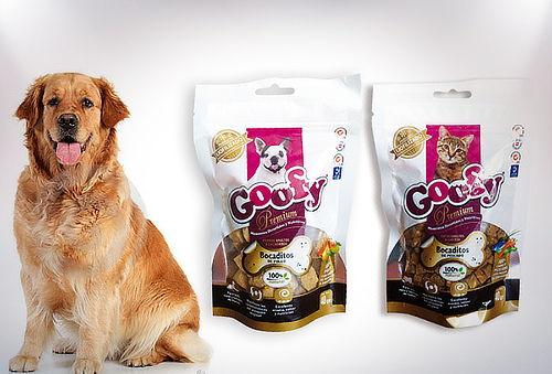 Hasta 50% 3 Doypack bocados Goofy liofilizado gato o perro