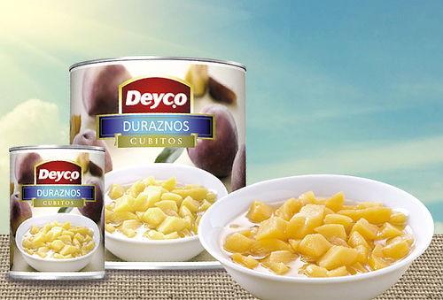 Pack 12 Tarros de Duraznos en Cubitos Deyco