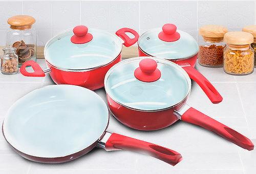 OUTLET - Set Ollas Ceramica 7 Piezas