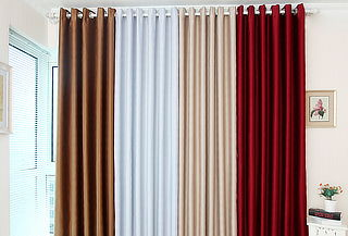OUTLET - Cortinas Paño Black Out Masel Bonding Snow white