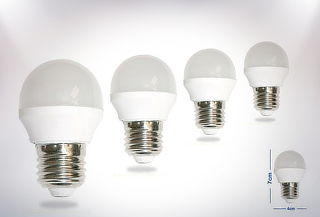 OUTLET - 4 Ampolletas Led Bola 3w Nagashi Luz Calida