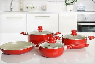 OUTLET - Bateria De Cocina 7 Pzas Superficie Ceramica