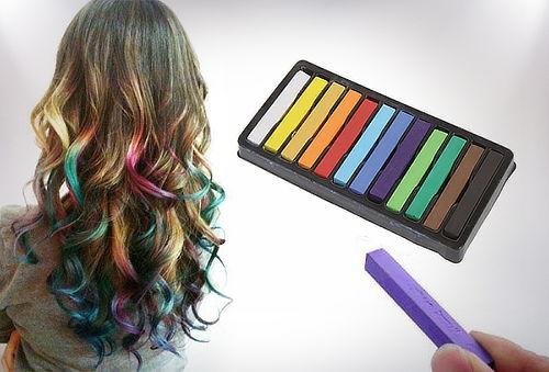 Tizas distintos colores para teñir el cabello temporal