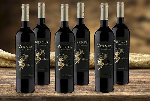 6 botellas de vino Premium Vernus Blend Viña Santa Helena