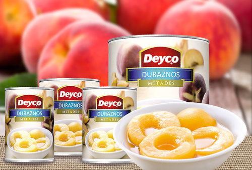 Pack 12 Tarros de Duraznos en Mitades Deyco