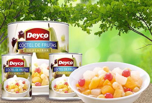 Pack 12 Tarros Cóctel de Frutas en Almíbar Deyco