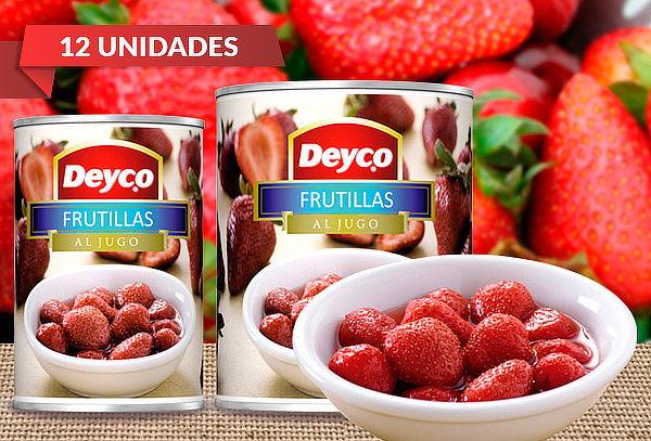 Pack 12 Tarros de Frutillas al Jugo Deyco