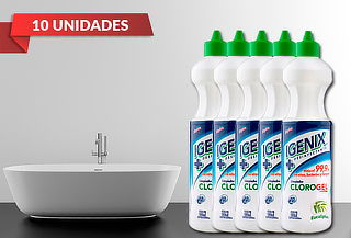 10 Botellas 900 ml de Cloro Gel marca Igenix