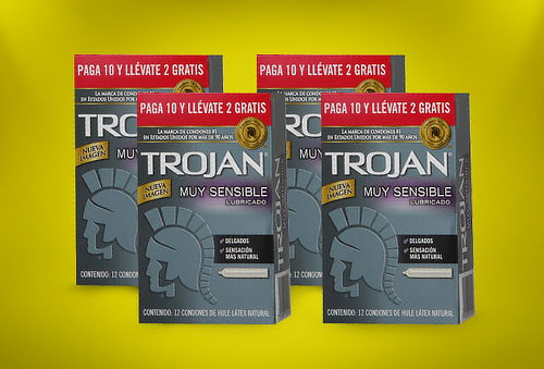 Pack de 48 Preservativos Muy Sensibles marca Trojan