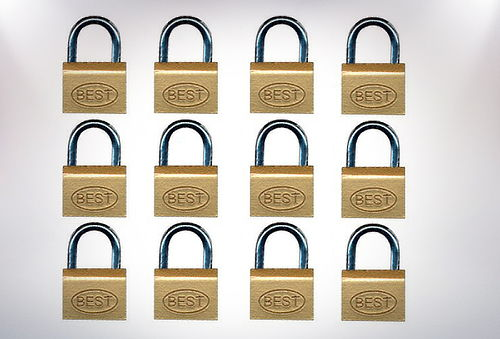 Pack 12 Candados 40 mm marca Best Lock USA.