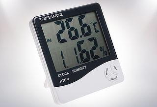 Termómetro Higrómetro Ambiental con LCD, reloj y Calendario!