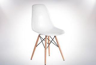 Silla Clásica Eames Wood Blanca