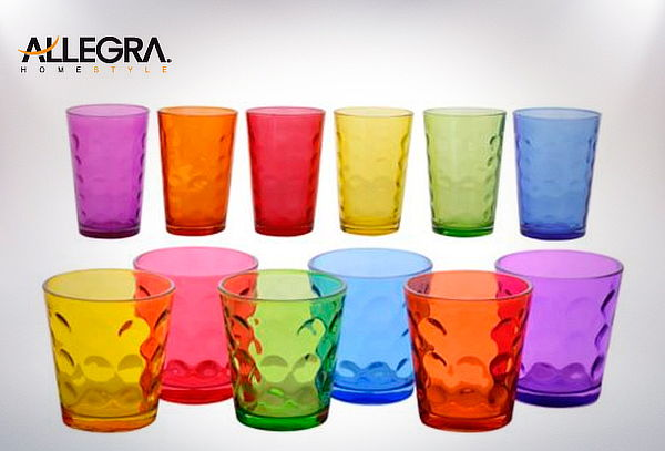 Pack 2 Set de 6 Vasos Color Mixed Allegra!