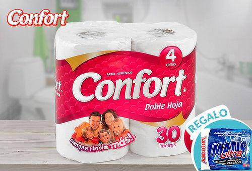 Pack 48 Rollos de Confort Panal Doble Hoja