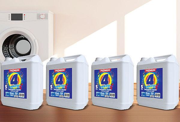 Pack 4 Detergentes Líquidos 4 Matic Premium, 20 litros!