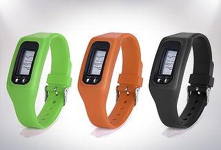 Reloj slim digital con podometro.