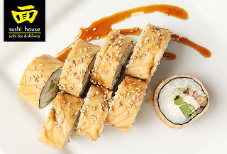 Sushi House: 3 Rolls + 2 Tragos o Bebidas. Elige Sucursal