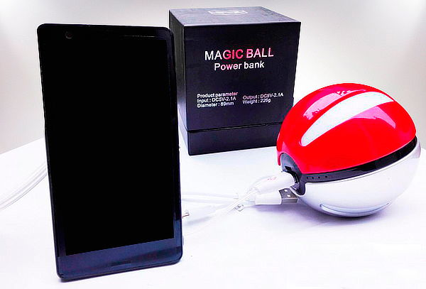 Bateria Universal modelo Pokebola de 10.000mah
