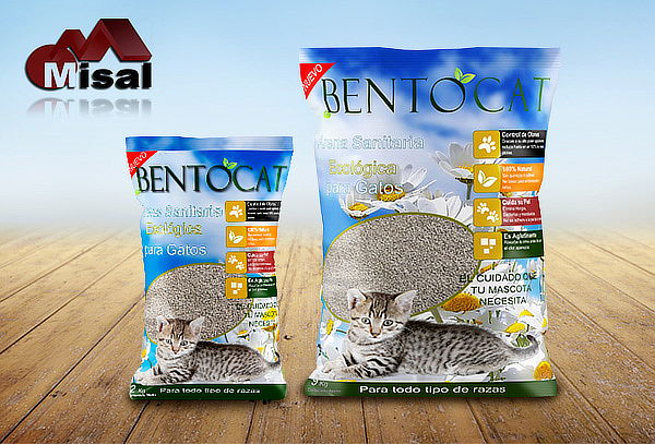 22 kg de Arena Sanitaria para Gatos Bentocat