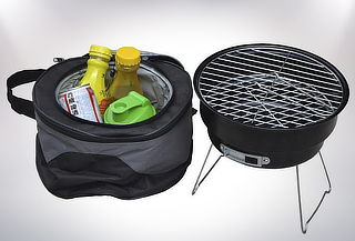 Parrilla Portátil con Bolso Cooler