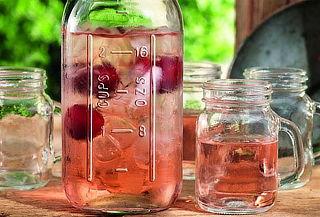 Coctelera de Vidrio + 4 Vasos