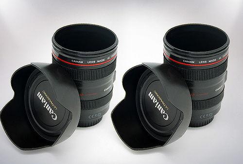 Pack de 2 Mug tipo lente de Camara