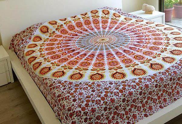 Cobertor Mandala Estampado a Mano
